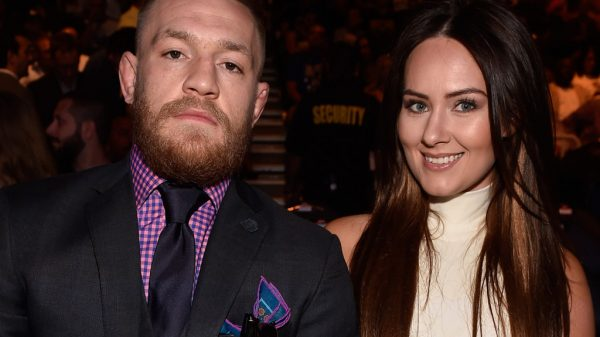 Conor McGregor consoled by fiancée Dee Devlin after his UFC 257 loss